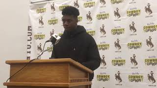 Wyoming DE Kevin Prosser discusses playing without Carl Granderson, pressuring SJSU