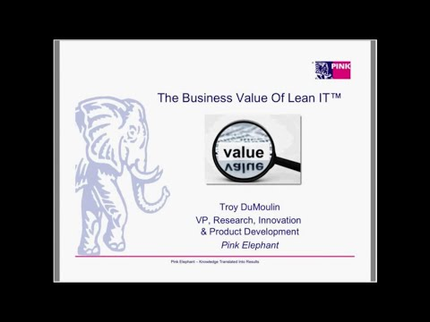 The Business Value Of Lean IT