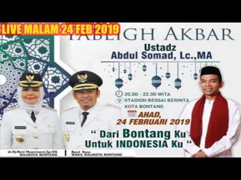 LIVE Bontang MALAM HARI INI 24 FEBRURI 2019! Tabligh Akbar Ustadz Abdul Somad UAS di Stadion Bessai