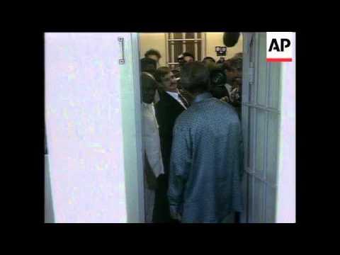 Nelson Mandela Returns To Robben Island Prison, Nelson Mandela Returns To Robben Island Prison