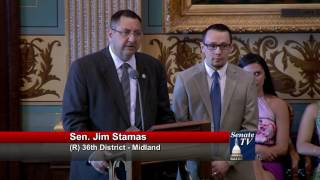 Sen. Stamas honors Eric Somsel at Michigan Senate