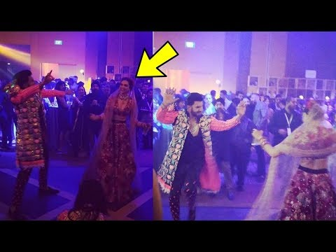 Deepika Padukone and Ranveer Singh look adorable dancing on their Wedding party