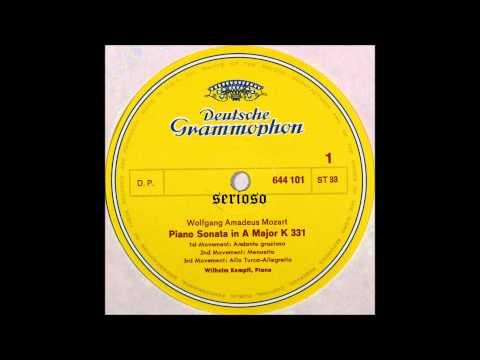 mozart,piano sonata K 331, KEMPFF