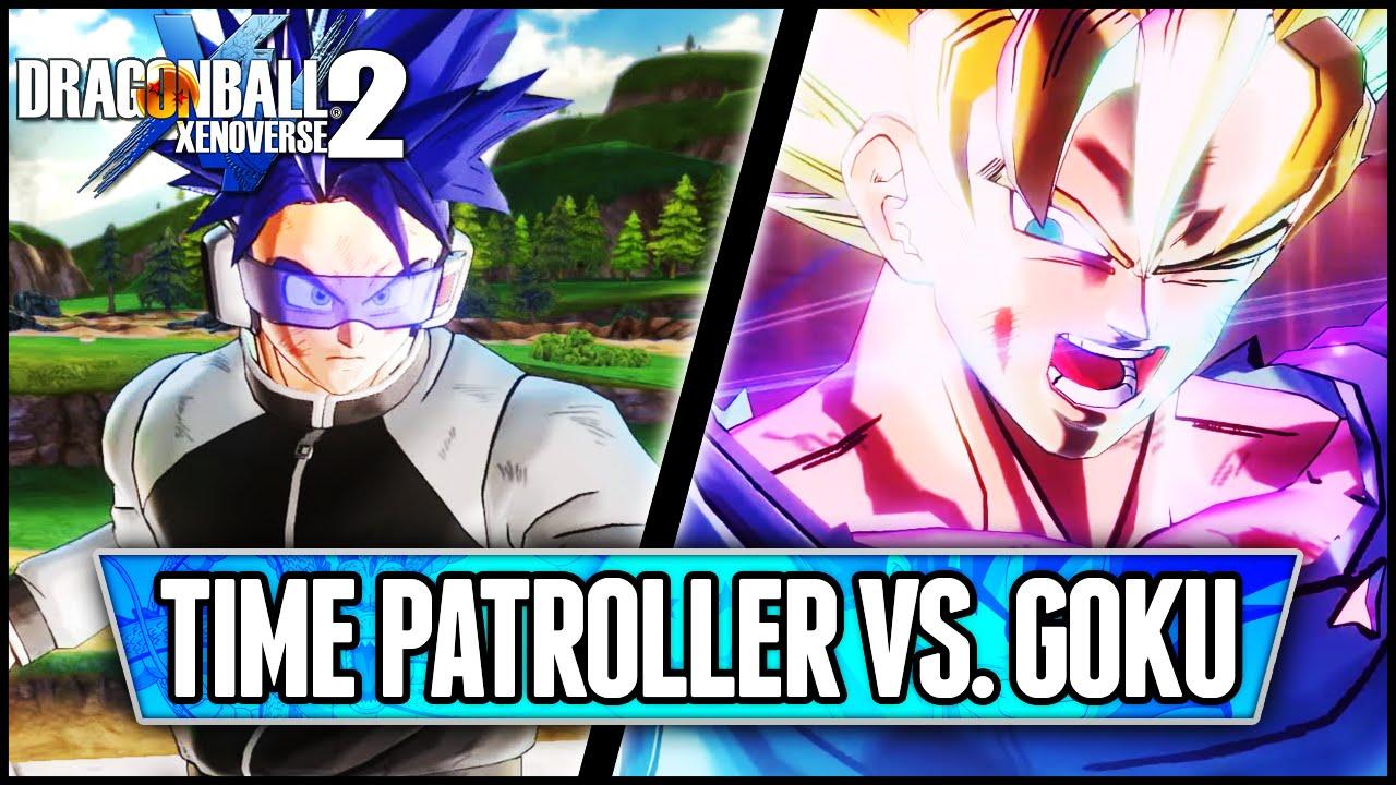 dragonball xenoverse 2 time patroller vs son goku gameplay