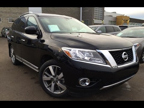 Perfect Used Black 2013 Nissan Pathfinder 4WD Platinum Review | Lloydminster Alberta
