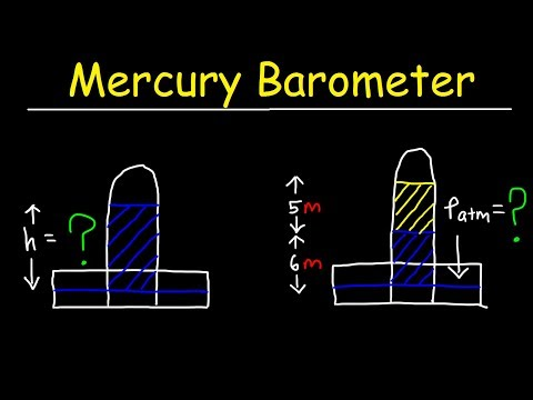 Mercury Barometer Problems, Physics - Air Pressure, Height & Density Calculations - Fluid Statics