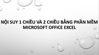 noi suy 1 chieu va 2 chieu bang microsoft office excel
