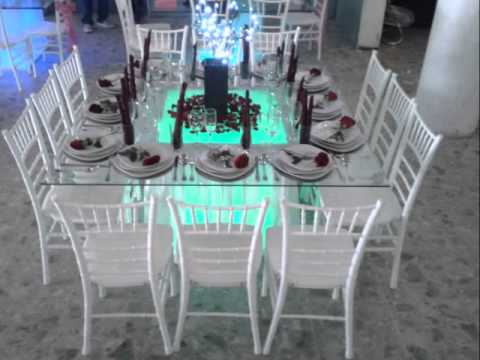 Mesas de cristal iluminadas youtube Mesas de cristal pequenas