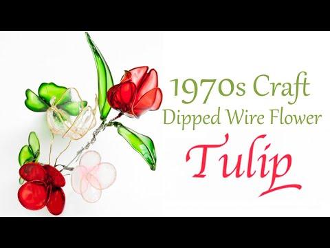 Liquid Plastic Dip Flower - Tulip - Vintage Craft DIY