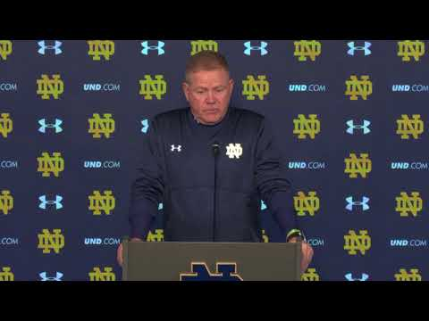 @NDFootball Brian Kelly Post-Game Press Conference - Navy (2017)
