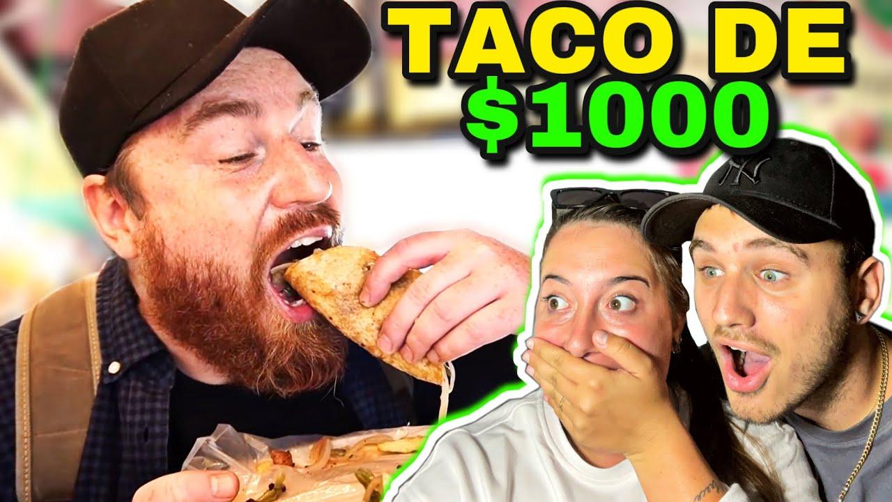 🇪🇸 REACCIÓN a TACO de $1000 🌮🇲🇽 @No Manches • Qué Rico 😱 **que pedazo de taco**