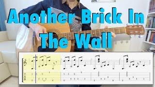 Pink Floyd - Another Brick In The Wall (fingerstyle guitar cover, tabs)