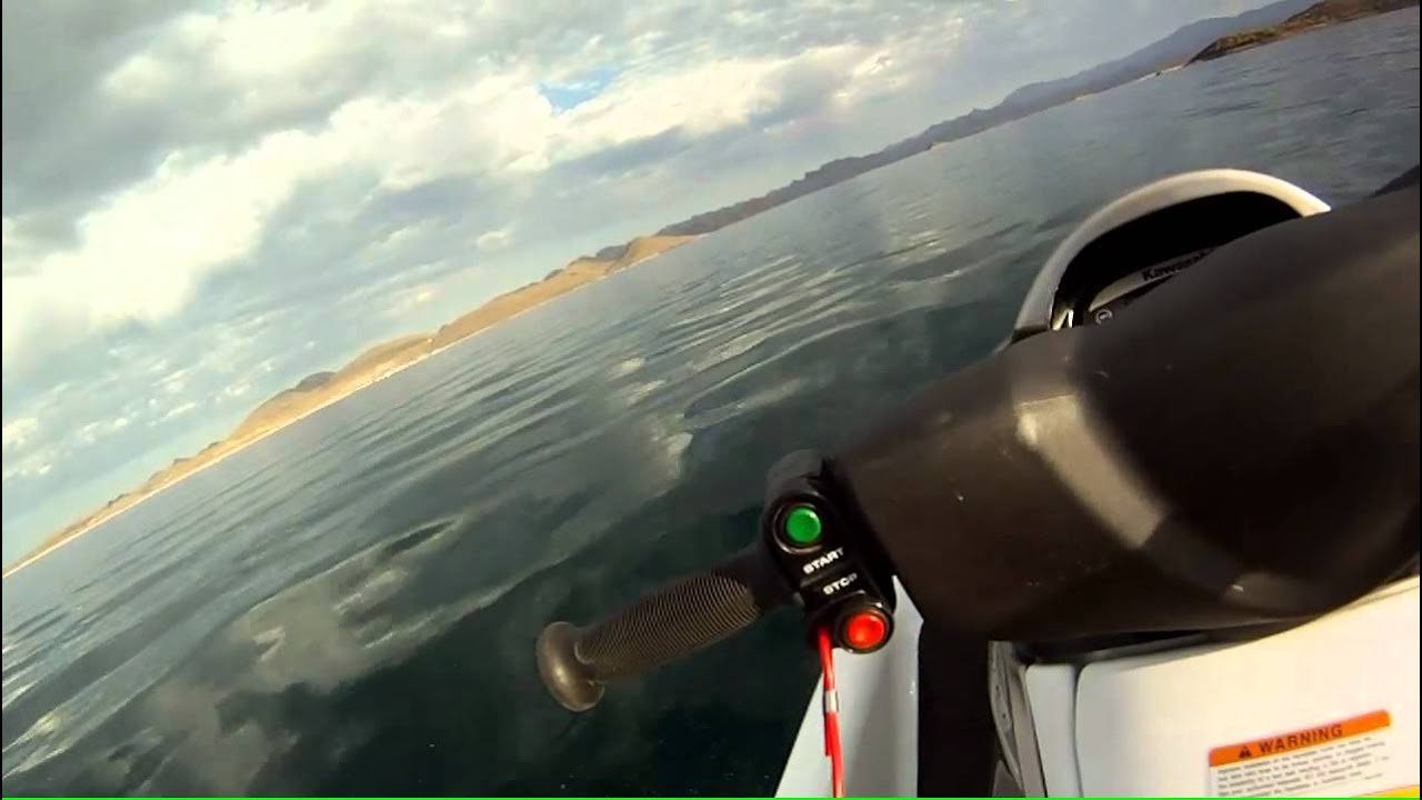 kawasaki stx 15f top speed run on morning glass water. - youtube