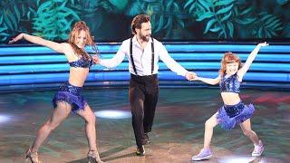 ¡IMPECABLES Cachete Sierra abrió la Salsa de tres bailando junto a Fiorella Giménez y Kuky Jazz