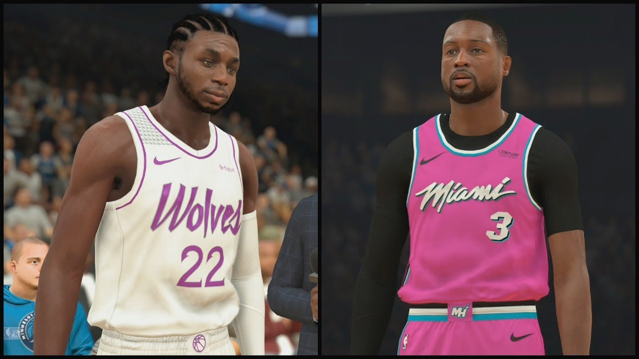 8feba14ca0 NEW NBA EARNED Jerseys - Minnesota Timberwolves vs Miami Heat NBA 2K19  Jersey Update 2018 19 Season