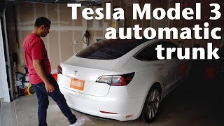 Tesla Model 3 Power Trunk Lift Gate