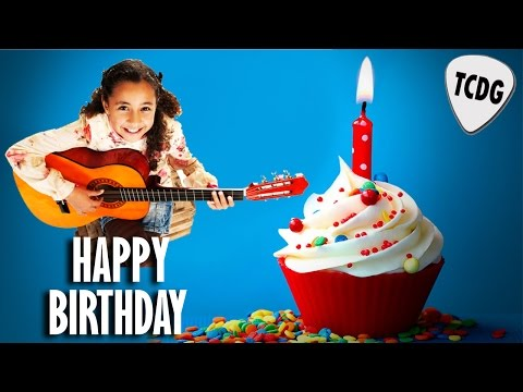 How To Play Happy Birthday Song On Acoustic Guitar | Easy Beginners Tab Lesson TCDG