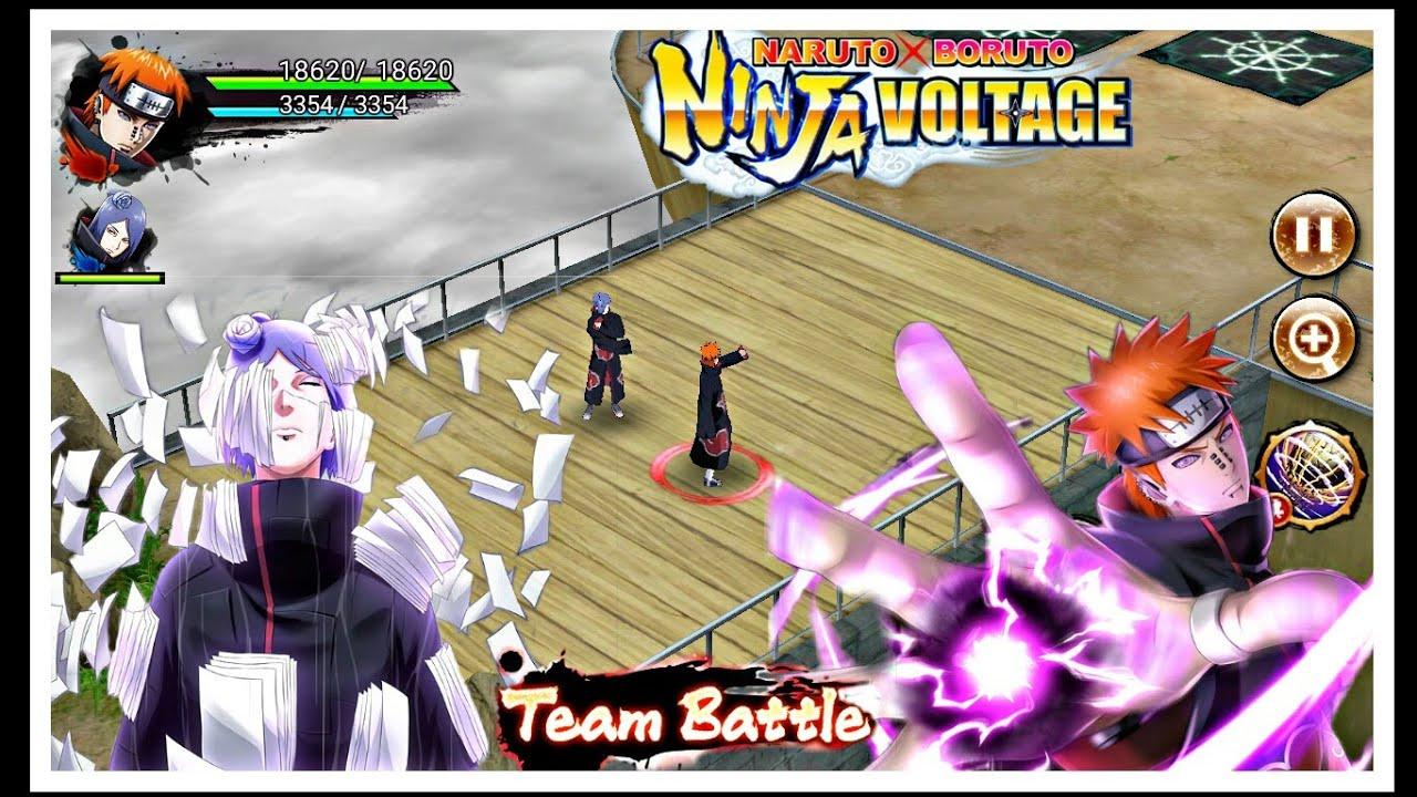Pain (tendo)  & Konan    Team Battle    Naruto x Boruto Ninja Voltage