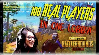 100 REAL PLAYERS IN ONE SINGLE LOBBY! Power of m24 and m416! #pubgmobile