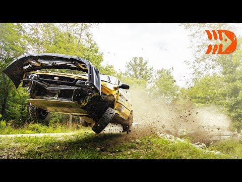 Best of Rally Crashes and Action - New England Forest Rally 2021