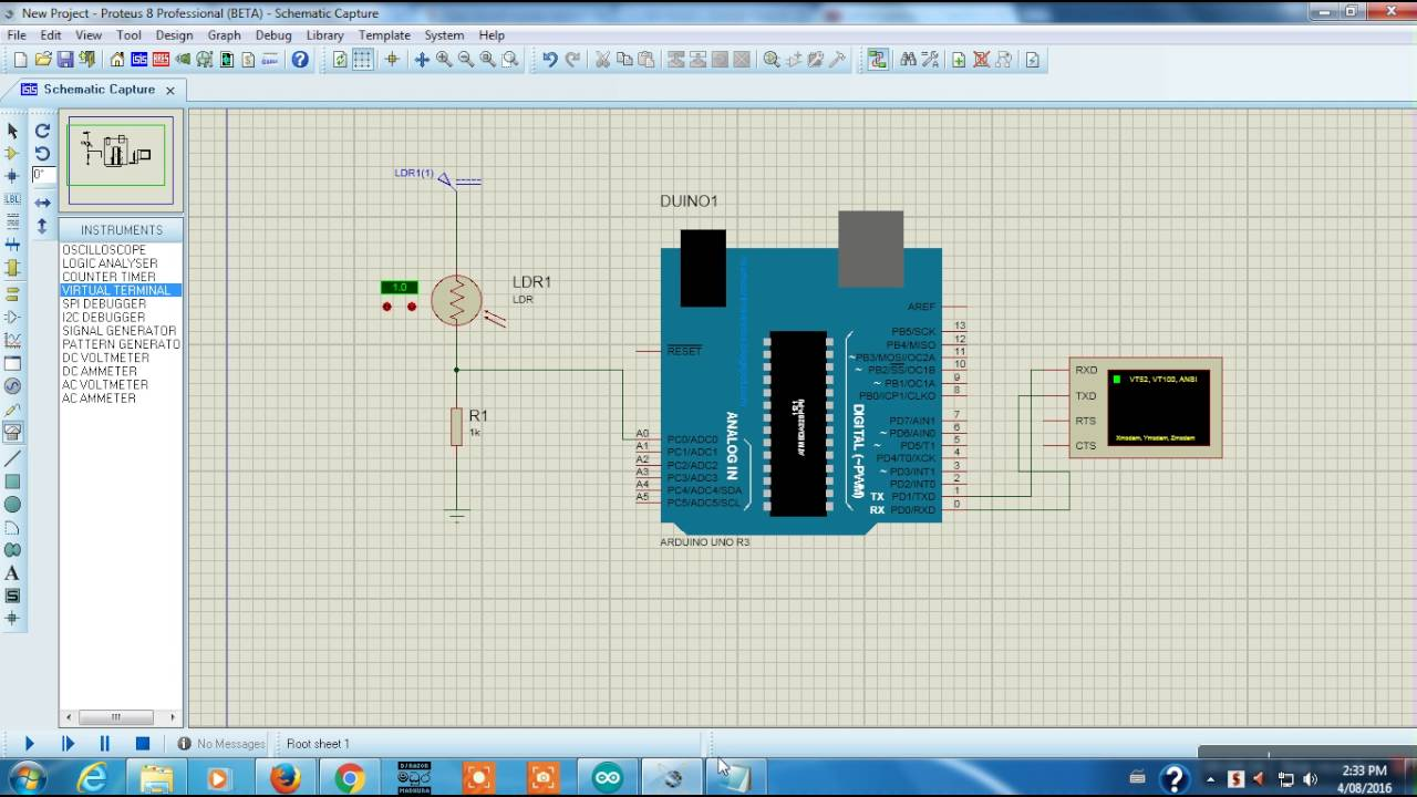 Ldr Circuit Arduino Light Sensor Using How To Circuits Archives Page 2 Of Gadgetronicx Proteus Simulation