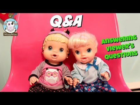 Baby Alive Q&A Question Answer With Brianna and Bailey / Missy Moo