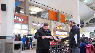 Handing out Free Flight Vouchers at the Mall