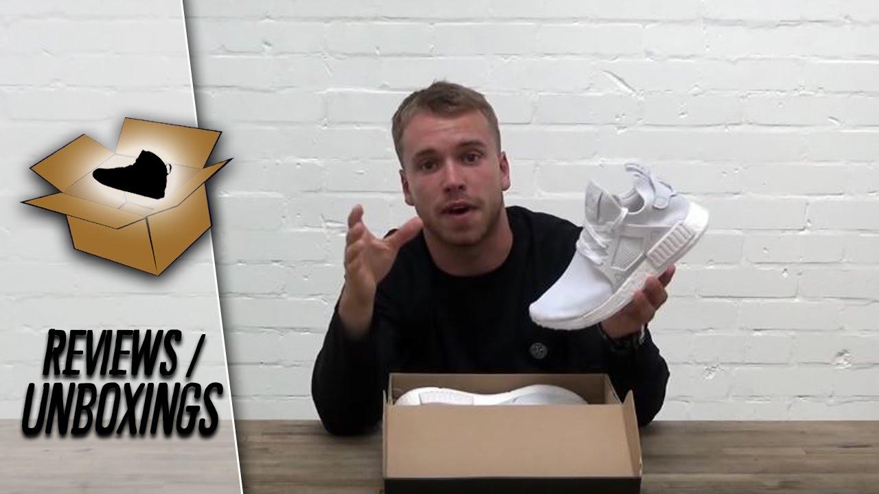 adidas nmd rt triplo bianco con l'unboxing del fornitore esclusivo su youtube