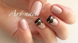 видео Маникюр и дизайн ногтей с полосками.