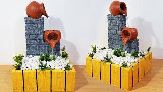 How to Make Beautiful Terracotta Fountain at Home |Amazing Tabletop Waterfall Fountain |DIY|