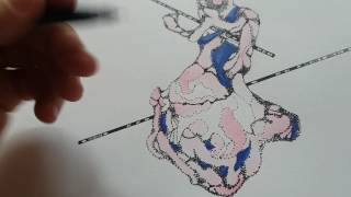 Micro vid of drawing weird bits with many dots
