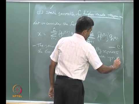 Mod-03 Lec-05 Modal response method, Modal mass contribution