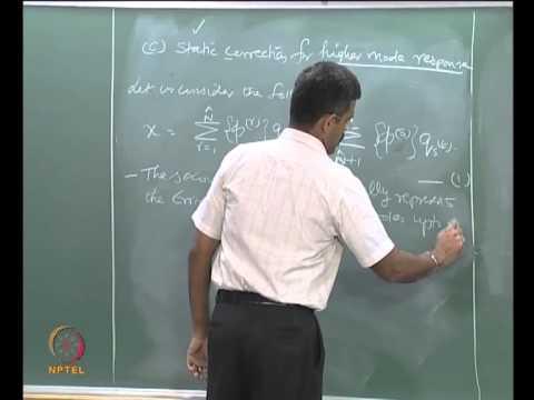 Mod-03 Lec-05 Modal response method, Modal mass contribution
