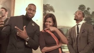 First Lady Michelle Obama Takes the Mannequin Challenge to the White House