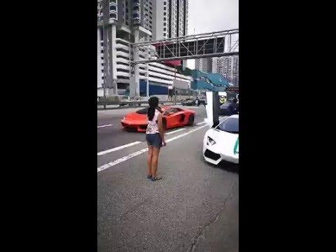 Viral Konvoi Kereta Berkuasa Tinggi Lamborghini Area KL