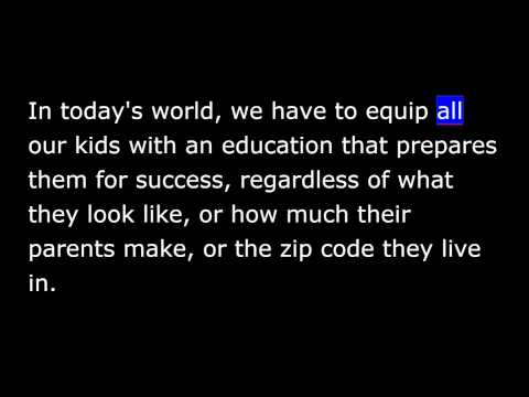 President Obama -  Weekly Address - Feb 14th, 2015 - Giving Every Child, Everywhere, a Fair Shot