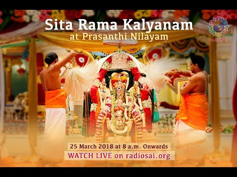 Sita Rama Kalyanam at Prasanthi Nilayam | Sri Rama Navami Celebrations - 25 March 2018