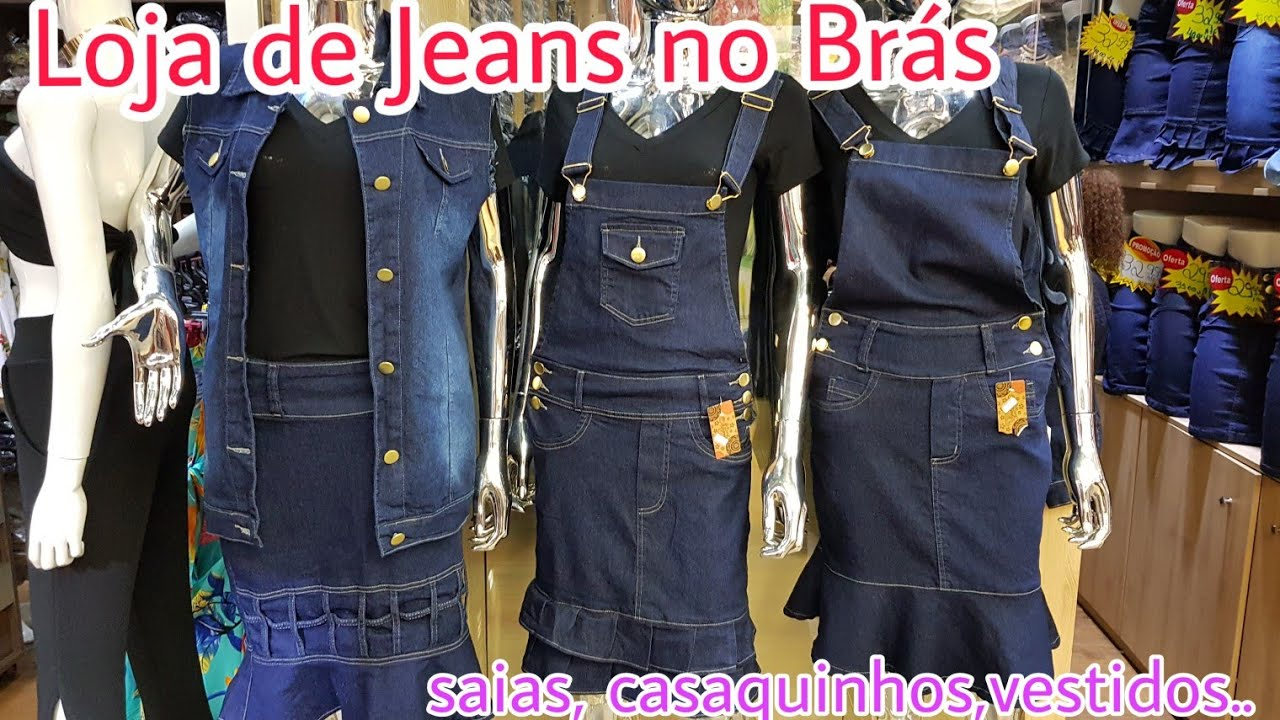 bed57e49e Saias Jeans no Brás - Roupas Jeans - Vlog bras - YouTube