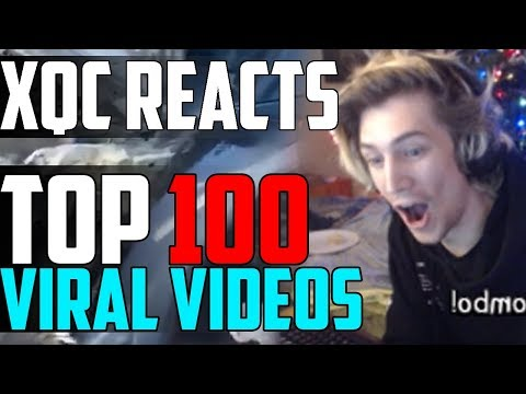 xQc REACTS TO TOP 100 VIRAL VIDEOS OF 2018