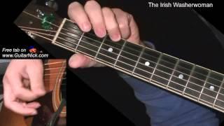 The Irish Washerwoman + TAB! learn to play on acoustic guitar
