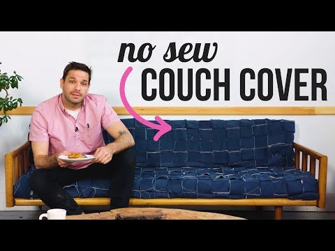 DIY No Sew Couch Cover - HGTV Handmade