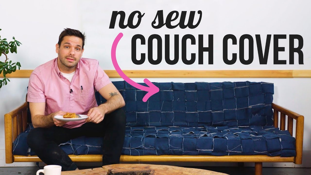 Diy No Sew Couch Cover Hgtv Handmade Youtube