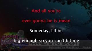 Mean - Taylor Swift ( Karaoke Lyrics )