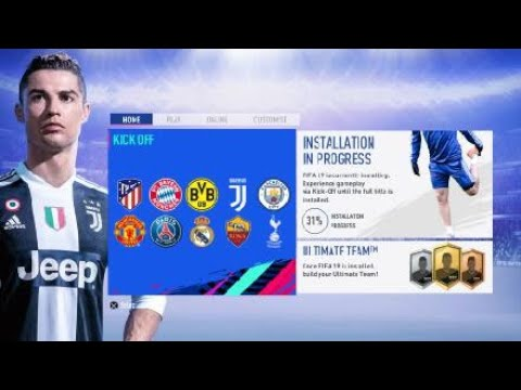 FIFA 19 PS4 PRO (Game while installing)