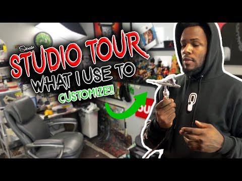 Studio Tour W/ Sierato. WHAT I USE TO CUSTOMIZE