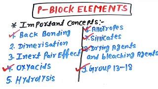 chemistry p block