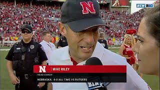 Mike Riley Talks About Win vs. Rutgers