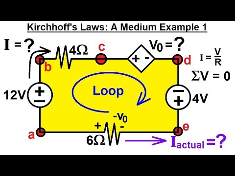 Electrical Engineering: Basic Laws (10 of 28) Kirchhoff's Laws: A Medium Example 1