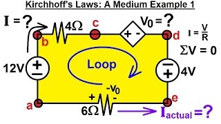 Electrical Engineering: Basic Laws (10 of 31) Kirchhoff's Laws: A Medium Example 1