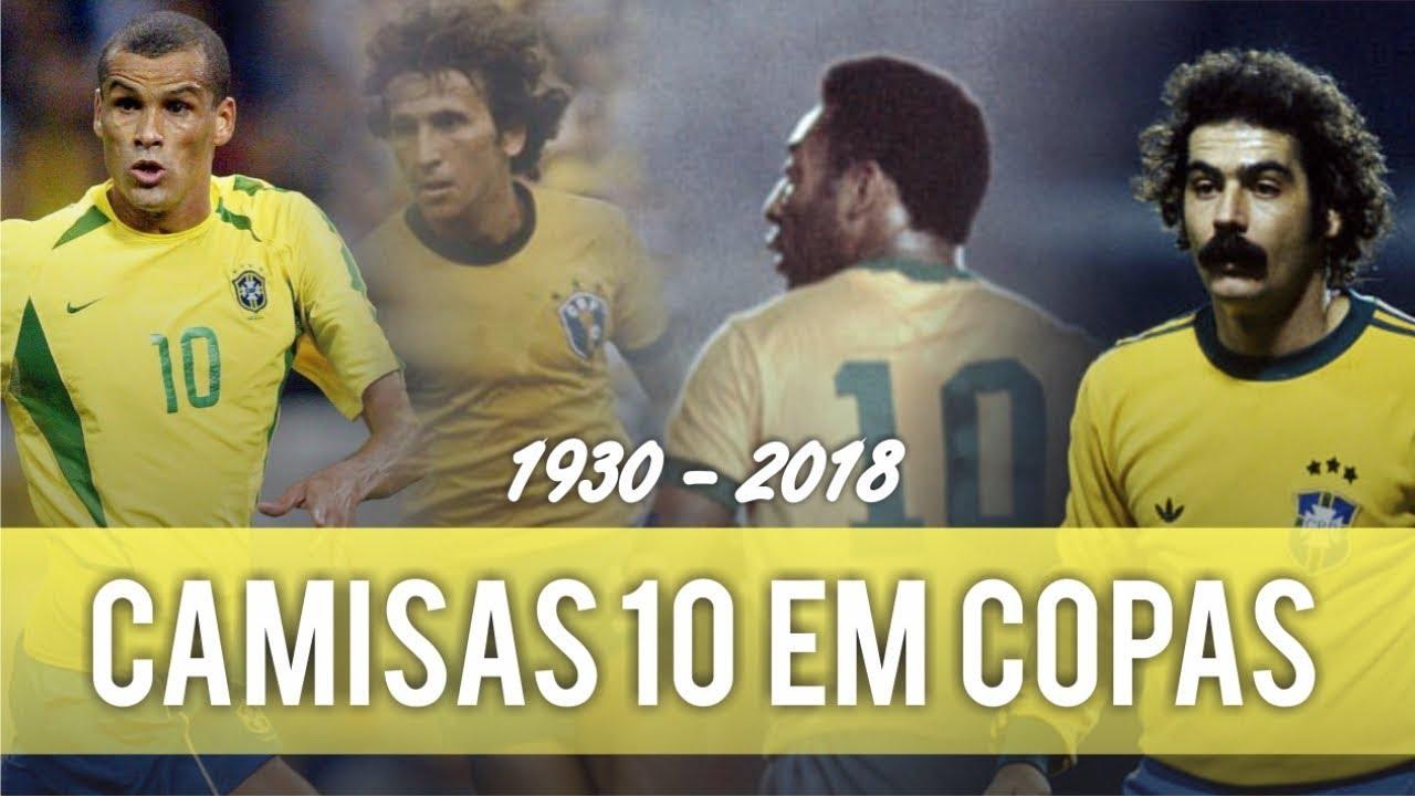 f05b5968837dc Relembre todos os CAMISAS 10 do BRASIL em COPAS - YouTube